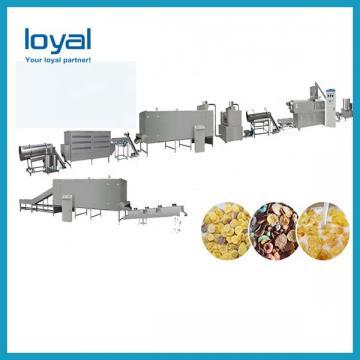 Puffed Corn Flakes Making Machine , Breakfast Cereals Maize Flakes Making Machine